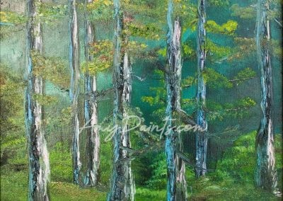 Birch Forest Oil Painting