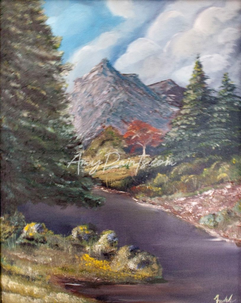 Rivers Edge Original Landscape Oil Painting by Amy Fedele